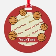 CUSTOMIZE Basketball Photo And Text Ornament