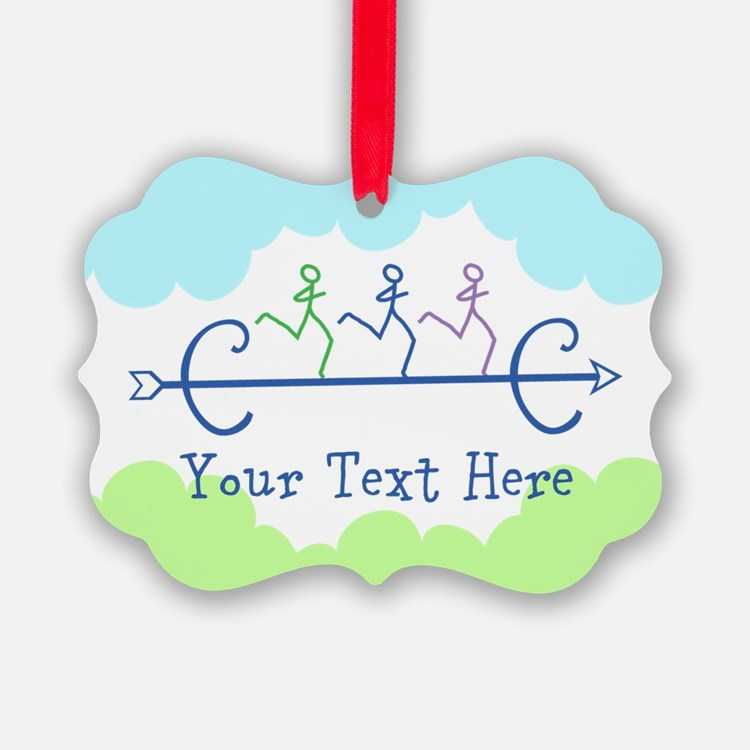 Personalized Cross Country Ornament