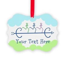 Personalized Cross Country Picture Ornament