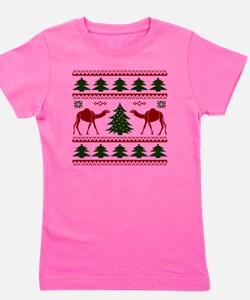 Hump Day Inspired Camel Ugly Sweater Girl's Tee