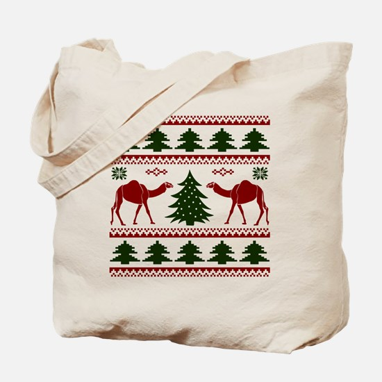 Hump Day Inspired Camel Ugly Sweater Tote Bag