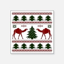 """Hump Day Inspired Camel Ugl Square Sticker 3"""" x 3"""""""