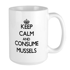 Keep calm and consume Mussels Mugs