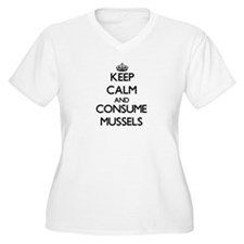 Keep calm and consume Mussels Plus Size T-Shirt