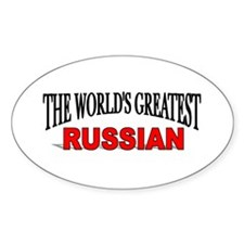 """""""The World's Greatest Russian"""" Oval Decal"""