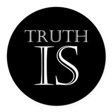 Truth Is Round Car Magnet