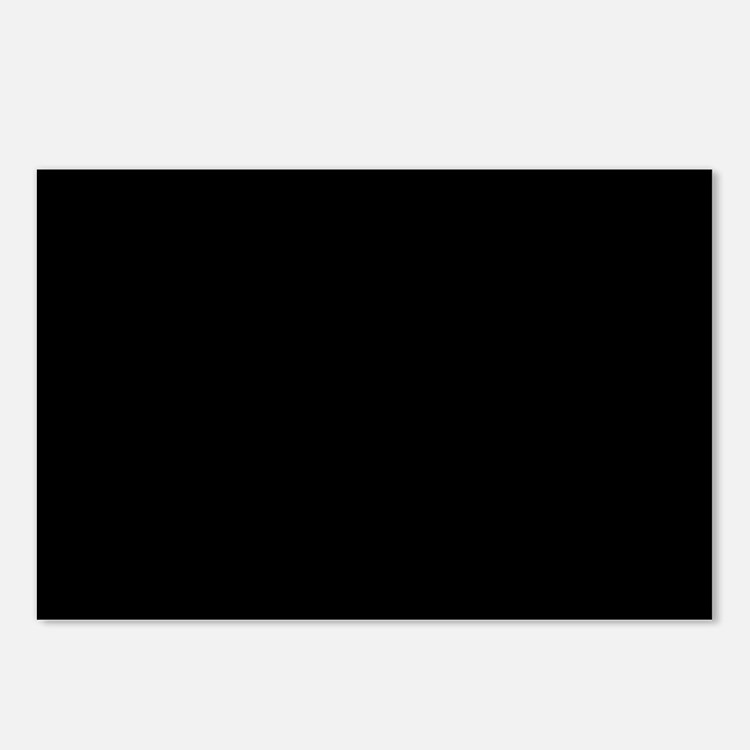 JUST COLORS: BLACK Postcards (Package of 8)