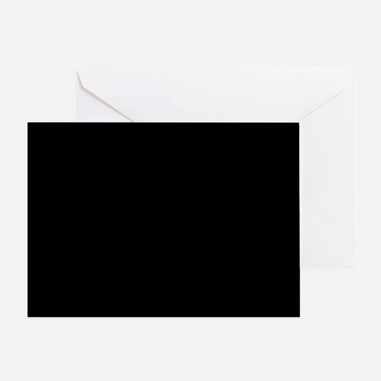 JUST COLORS: BLACK Greeting Card