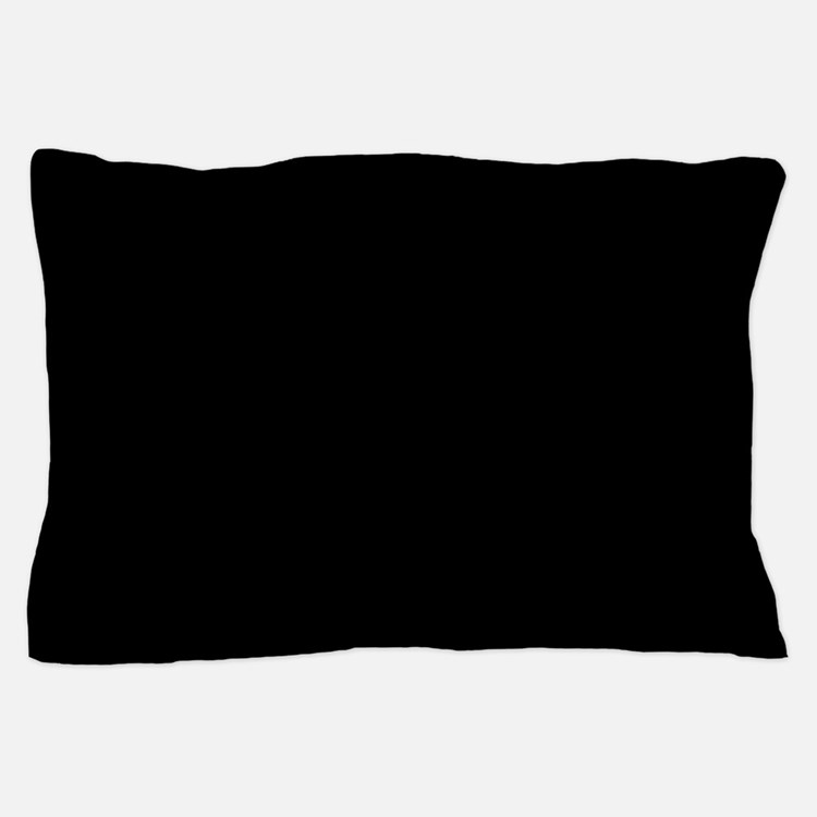 JUST COLORS: BLACK Pillow Case