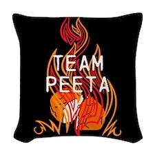 Team Peeta Baker Woven Throw Pillow