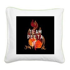 Team Peeta Baker Square Canvas Pillow