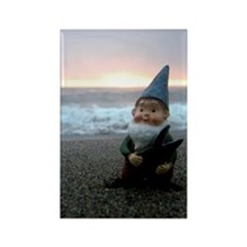 Sunset Gnome Rectangle Magnet