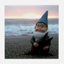 Sunset Gnome Tile Coaster