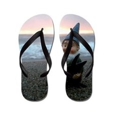 Sunset Gnome Flip Flops