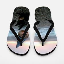 Sunset Gnome Flip Flops