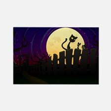 Halloween Fence Rectangle Magnet