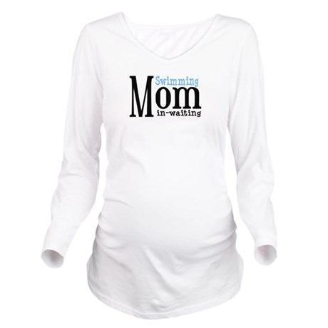 swimming Mom in Waiting for white.png Long Sleeve