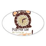 CLOCK Oval Sticker