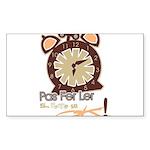 CLOCK Rectangle Sticker