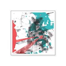 "Crazy by Voln Square Sticker 3"" x 3"""