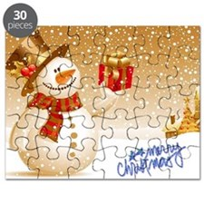 Merry Christmas Snowman Puzzle