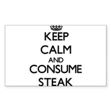 Keep calm and consume Steak Decal
