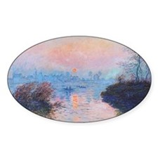 Sunset on the Seine at Lavacourt Decal