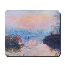 Sunset on the Seine at Lavacourt Mousepad