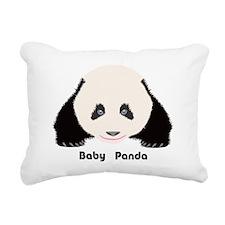 Baby Panda Rectangular Canvas Pillow