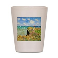 Clifftop Walk at Pourville by Claude Mo Shot Glass