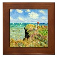 Clifftop Walk at Pourville by Claude M Framed Tile
