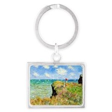Clifftop Walk at Pourville by C Landscape Keychain