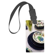 Colorful Artistic Dishes Luggage Tag