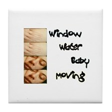 Window Water Baby Moving Tile Coaster