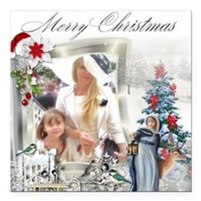 "Cristmas with Baroness a Square Car Magnet 3"" x 3"""