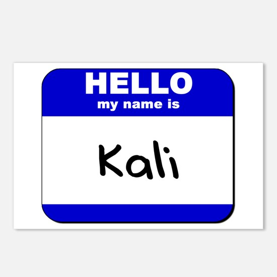 hello my name is kali  Postcards (Package of 8)