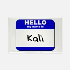 hello my name is kali Rectangle Magnet