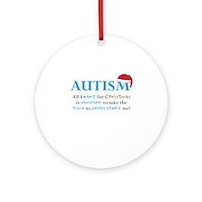 Autism Christmas Ornament (Round)
