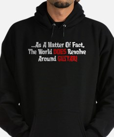World Does Revolve Around Guitar Hoodie