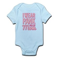 I Wear Pink for My Mom Breast Cancer Body Suit