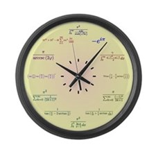 Math Clock (Yellow-Peach gradient) Large Wall Cloc
