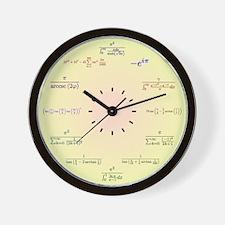 Math Clock (Yellow-Peach gradient) Wall Clock