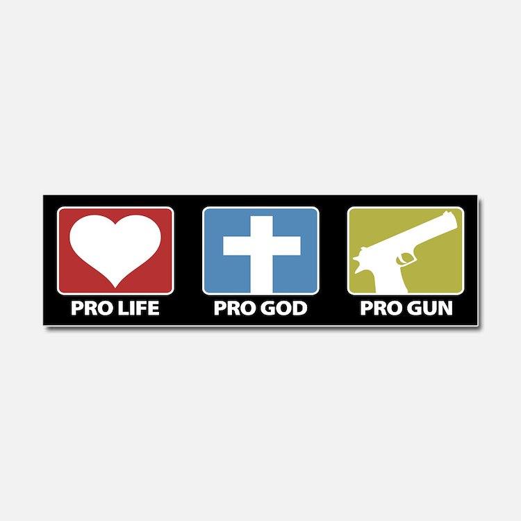 Cute God guns Car Magnet 10 x 3