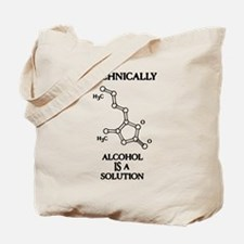 Alcohol, A Solution Tote Bag