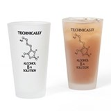 Geek Drinking Glass