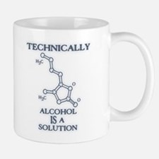 Alcohol, A Solution Small Small Mug