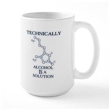 Alcohol, A Solution Ceramic Mugs