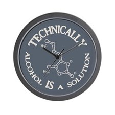 Alcohol, A Solution Wall Clock