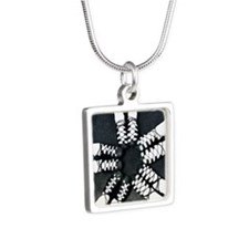 Irish Dance Ghillies Ring Silver Square Necklace
