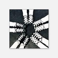 "Irish Dance Ghillies Ring Square Sticker 3"" x 3"""